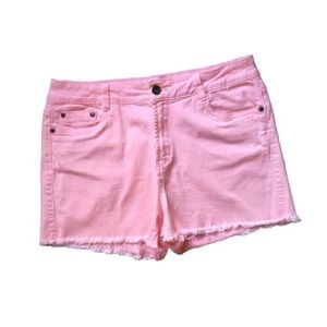 Light Pink Cutoff Denim Jean Daisy Duke Shorts